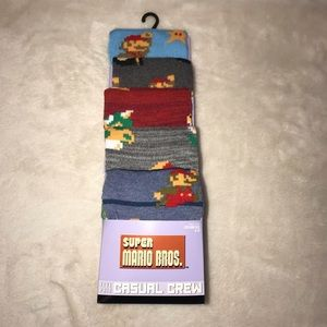 Super Mario Christmas Stocking.Super Mario Brothers Socks 5 Prs Casual Crew 8 11 Nwt